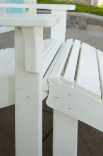 POLYWOOD SH22WH Seashell Adirondack Chair, White