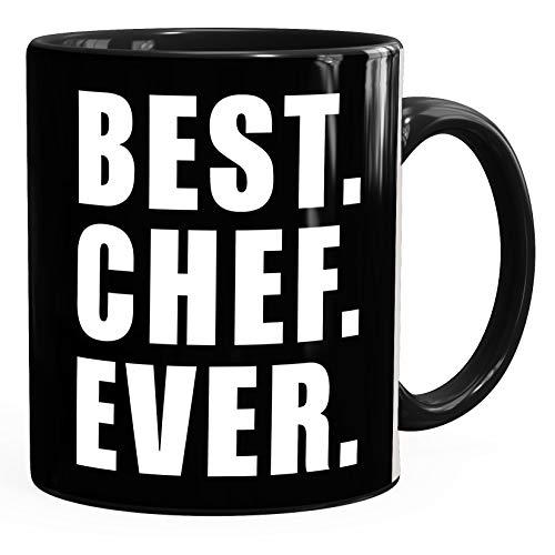 MoonWorks® Kaffee-Tasse Best Chef ever Geschenk Spruch schwarz unisize