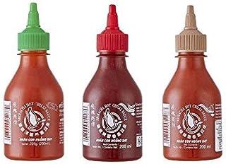 3er Set Sriracha Hot Chili Sauce versch. Sorten 3 x 200ml Chilli Soße