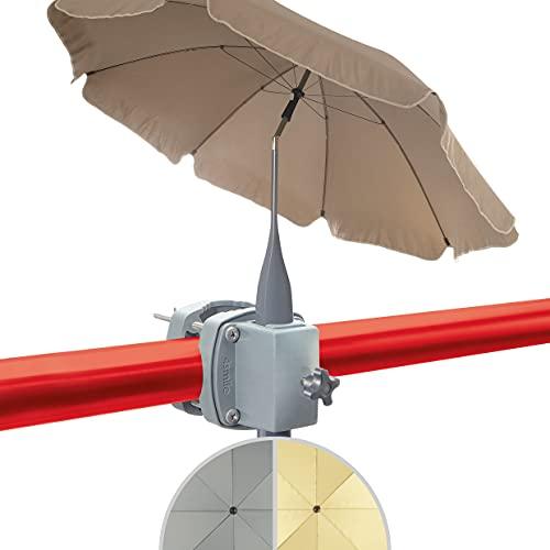 Set 4smile - ombrellone + porta ombrellone ringhiera del balcone SunnyBoy - ombrellone 200 cm SunnyJoy con clip, pieghevole, protezione solare UV 50+ - set completo