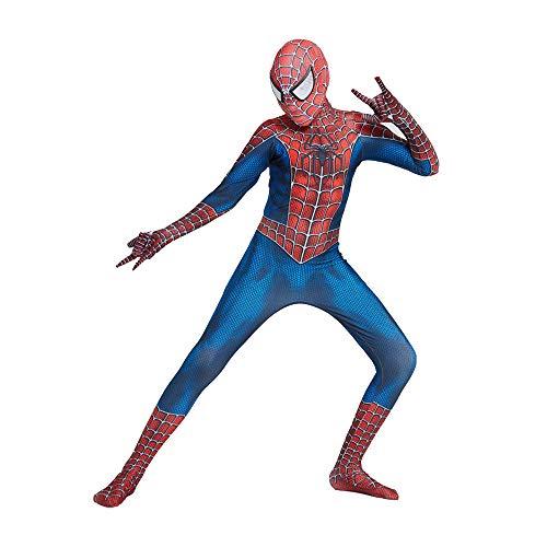 WUHX Adultos Niños Spiderman Traje De Regreso Al Hogar De Los Trajes De Superhéroes Disfrazados General Spandex/Lycra Impresión 3D Carnaval De Halloween Cosplay,A,140~150cm