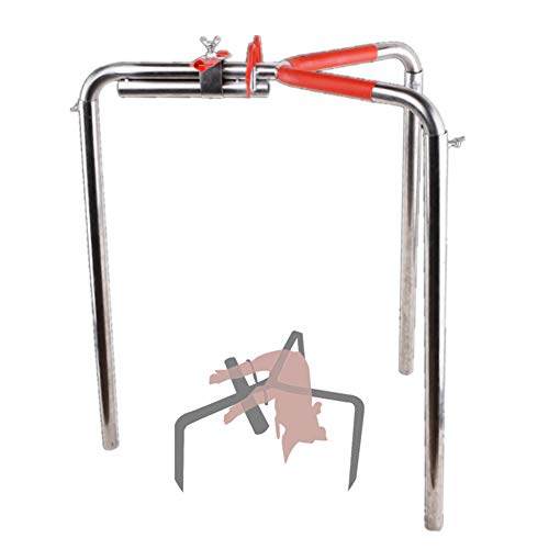 AZLZM Triangle Castration Tool for Pig with Leather Case Stainless Steel Piglet Fixing Castration Bracket