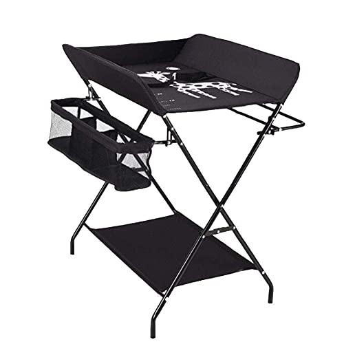 Attrezzatura domestica Lettino da massaggio per neonati con ruote Tavolino da toeletta portatile pieghevole in altezza regolabile in altezza con portaoggetti per vestiti per modelli standard grigi