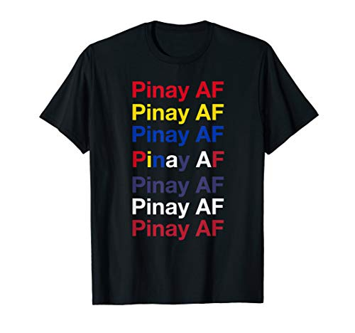 Pinay AF Filipina-American Heritage Pop-Art Repetition Gift T-Shirt