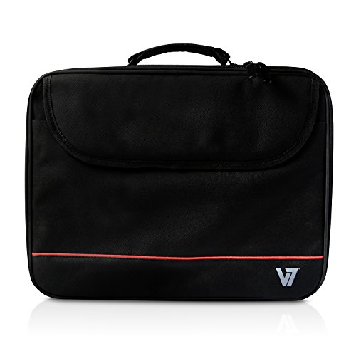 V7 16' Essential Frontloading Laptop Case for Business Professionals, College Students and Travelers Made of Water Resistant Polyester - CCK1-3N