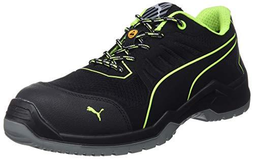Puma 644210.42 Fuse TC Green Low S1P ESD SRC - Zapatillas de Seguridad (Talla 42, Negro/Verde Claro)