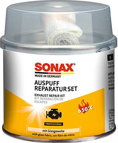 SONAX AuspuffReparaturSet (200 g) verschließt größere Risse, Löcher und undichte Stellen dauerhaft, schnell und absolut gasdicht | Art-Nr. 05531410