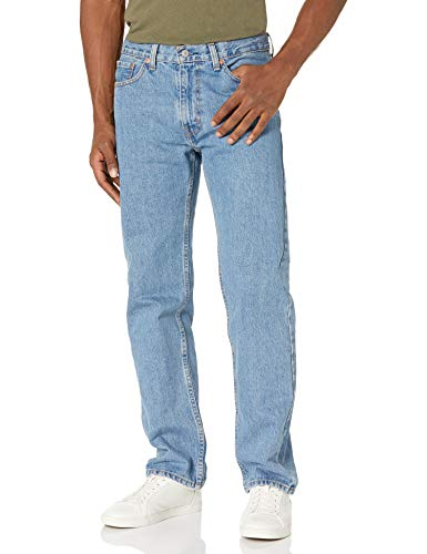 Levi's Men's 505 Regular Fit Jeans, Light Stonewash, 32W x 32L