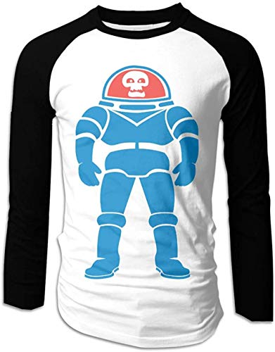 Mens Space Kook T-Shirts Long Sleeve Tee Black,Black,X-Large