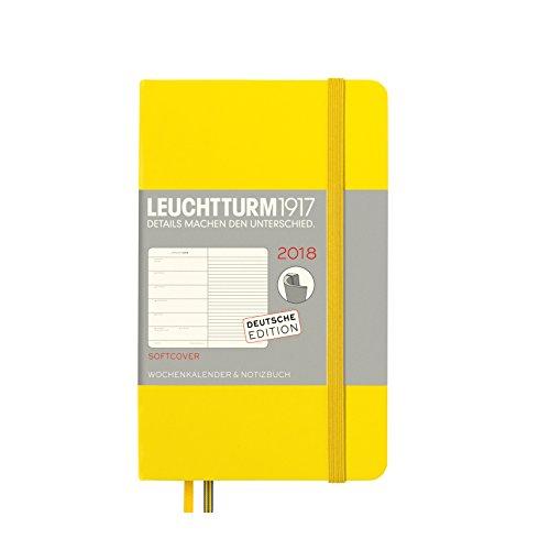 LEUCHTTURM1917 355110 Wochenkalender & Notizbuch 2018 Softcover, Pocket (A6), Zitrone, Deutsch