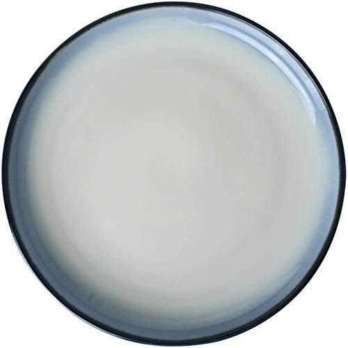 HSWYJJPFB Platos Gradiente Azul Filete Placa Redonda Banquete Día del Recuerdo Creativo Plato de Porcelana de 11 Pulgadas