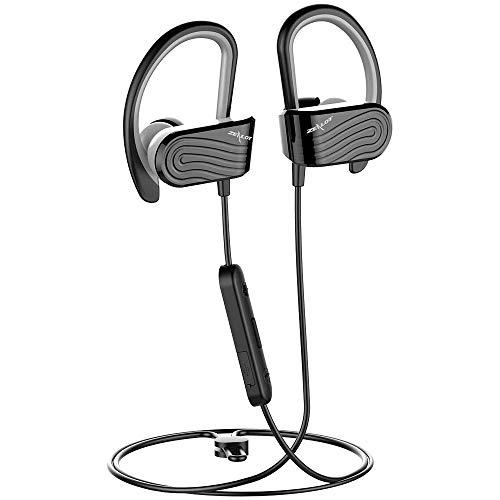 Zealot H12 Kopfhörer, Bluetooth 4.2, Sport-Kopfhörer, leicht, In-Ear-Kopfhörer für Laufen/Gym/Joggen schwarz/grau