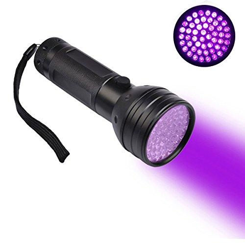 Yi-ya UV Lampe de poche torche, 51 LED 395 nm Gogs/chats détecteur d'urine trouver les taches sur Tapis/moquettes, Ultra Violet Flash Agneau lampe de poche Agneau, Noir luminosité