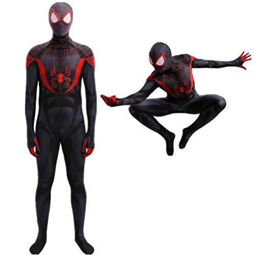 GYMAN Los Trajes De Los Niños Hombre Araña Super Héroe De La Impresión 3D Full Body Body Halloween Carnival Onesies Vestuario, para El Partido De La Película De Regalo Cumpleaños,Man-L