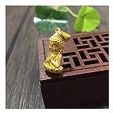 DXMPZB Or Jaune 24 Carats Bouddha Pendentif pour Femmes Hommes Amulette/Talisman De Bodhisattva, 100% Or Pur Bien Bijoux avec Coffret Cadeau