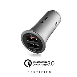 Mivi CC2QC3 Dual Port Car Charger - (Black),Mivi,CC2QC3