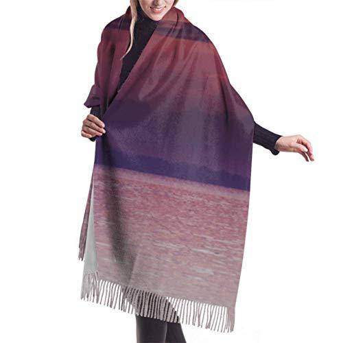 Bufanda de 27'x77 Unisex Un hombre remando un barco Bufanda de cachemira de diseñador Chal para niñas Abrigo elegante Manta grande y cálida