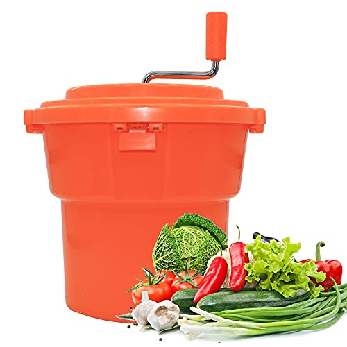 CMI 2.5 Gal/10 Qt Large Commercial Salad Spinner Jumbo Manual Lettuce Dryer-Dries up to 4 Heads of Lettuce