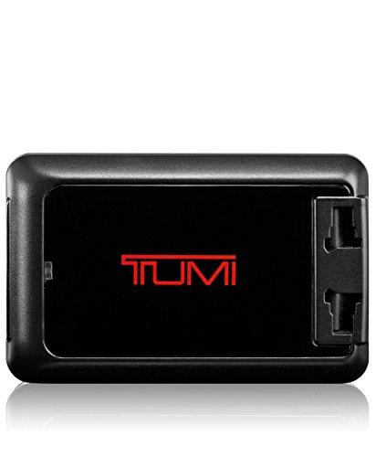TUMI - 4 Port USB Electric Travel Adaptor Plug - International Universal AC Power Converter - Black