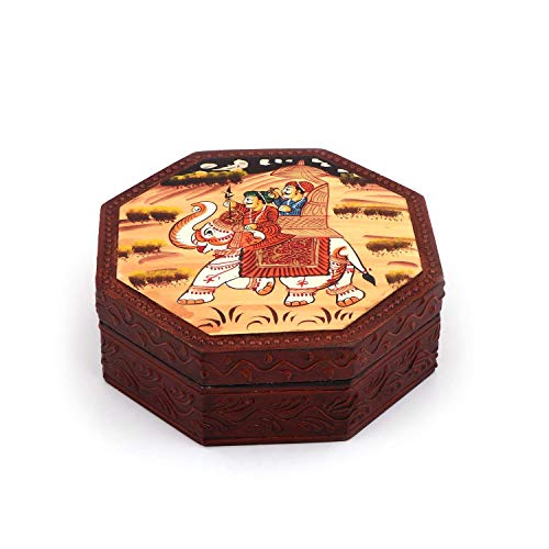 RM Supari Daan/Dry Fruit Box with Four partition,and Home Decor & Decorative Items (Size – 6X6 inch)