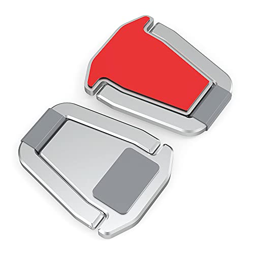 LOKOER 2 soportes portátiles para ordenador portátil, base de metal, plegables, antideslizantes, soporte de escritorio para ordenador portátil, soporte de escritorio para oficina en casa