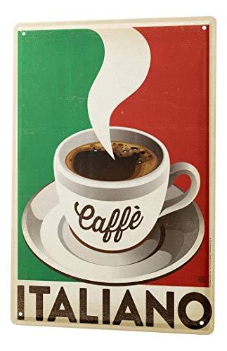 LEotiE SINCE 2004 Blechschild Dekoschild Küche Garage Kaffee Cafe Bar Kaffee Italien Wand Deko Schild 20X30 cm