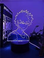 アニメLEDライト寝室の装飾誕生日プレゼントマンガのガジェットマイヒーローアカデミアカツキバクゴ3Dランプ