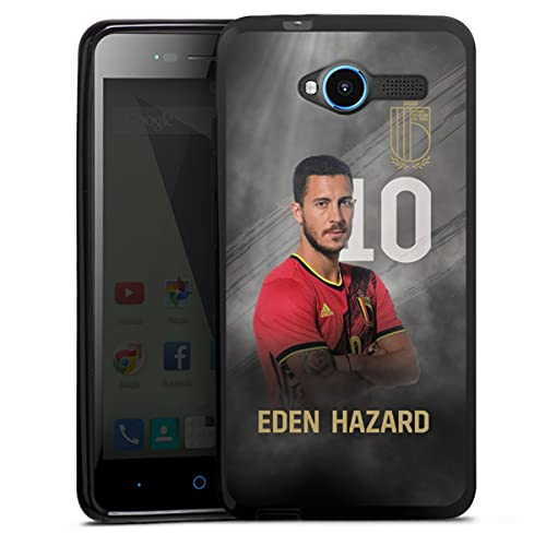 DeinDesign Silikon Hülle kompatibel mit ZTE Blade L3 Hülle schwarz Handyhülle Fußballspieler Belgien RBFA