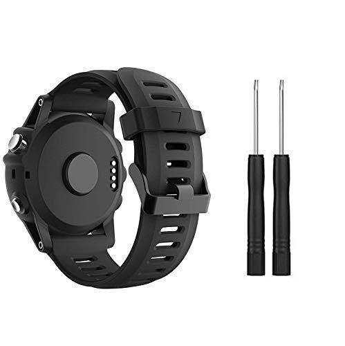 SUPORE Garmin Fenix 3 Sportuhr Armband Silikon Sportarmband Uhr Armband Ersatzarmband mit Werkzeug für Garmin Fenix 3 / Fenix 3 HR GPS Smartuhr