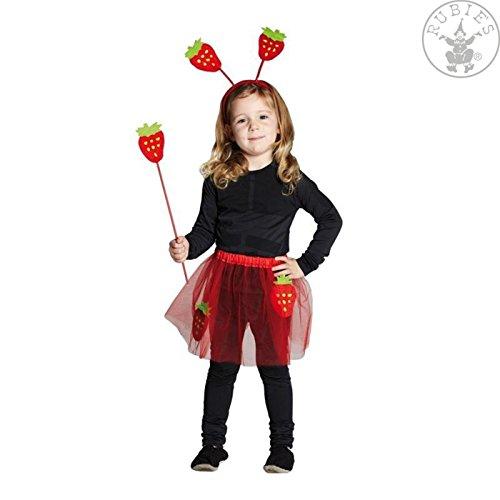 Erdbeerkostüm Kostüm Erdbeere Kinderkostüm Kinder Mädchen Frucht 3 teilig