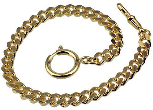 Taschenuhrkette Vergoldet Panzer Uhrkette 25cm Taschenuhr Uhr Kette 3010.2780