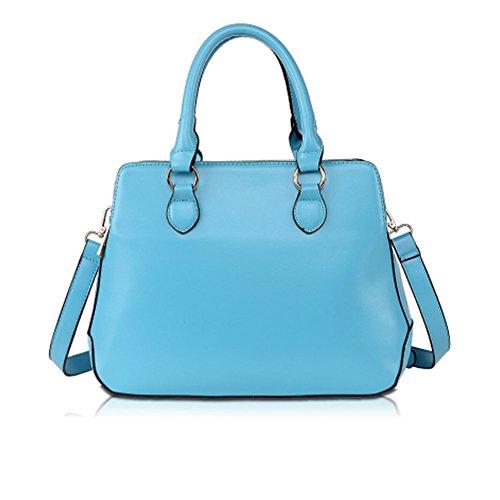 Parfait Taille M Fashion Femme Sac fourre-Tout Sac à Main (Bleu Ciel)