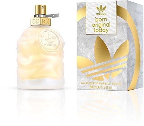 adidas Born Original Today Eau de Toilette – Blumig-zitrisches Damen Parfüm für jeden Tag, mit schwungvoll kontrastierenden Düften – 1 x 50 ml