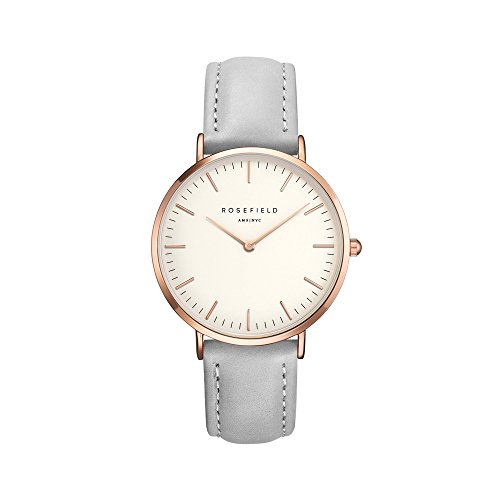 ROSEFIELD AMS/NYC Women's 'The Bowery' Grey/White/Rose Gold Watch - BWGER-B16