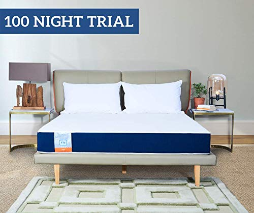 Flo Ergo - Gel Infused Memory Foam Mattress (75x60x6 Inch) | 100 Night Trial+10 Year Warranty | Sleep Well with Our Aloe Vera Gel Infused Cover | for Queen Sized Bed