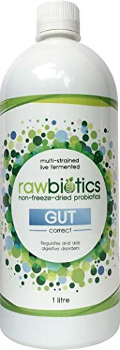 Rawbiotics Gut - Liquid Probiotic with 12 Different Live Bacterial strains - 1000ml (1 Month)