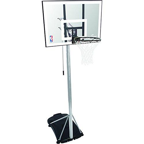 Spalding - Canestro portatile NBA silver (59-476CN), Unisex, Basketballanlage Nba Silver Portable, trasparente, 42