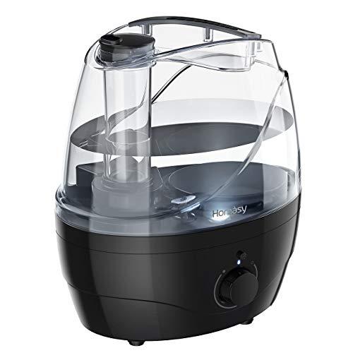 2.2 L Luftbefeuchter für Schlafzimmer,Homasy Humidifier mit kühlem Nebel,28 dB Ultraschall Luftbefeuchter für Kinderzimmer,automatische Abschaltung und Nachtlicht,bis zu 30 Stunden-Schwarz