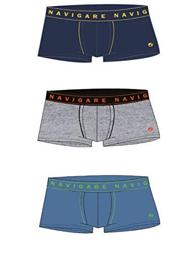 NAVIGARE. Boxershorts aus Baumwolle, Junior, Original-Muster, 95 % Baumwolle, 3 Stück 4 Jahre