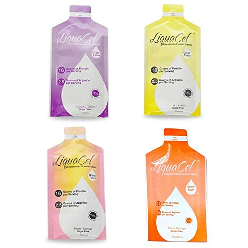 LIQUACEL CONCENTRATED LIQUID PROTEIN PACKETS VARIETY PACK 30 X 30ML (1OZ)