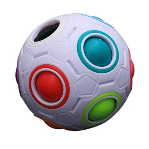 Niños únicos Niños Bola de Arco Iris esférica Fútbol Juguete mágico Colorido Aprendizaje Educativo Bloque de Rompecabezas Juguete de Regalo para bebé (Multicolor)