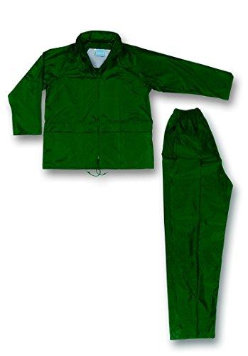 Seba 103N V jas en broek nylon/PVC groen met bagagedrager 3Xl Groen