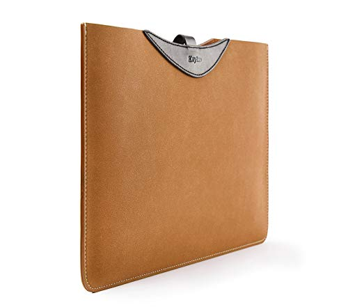 """Keytas Ultra Slim 15 Inch Laptop Sleeve Case Cover Soft Leather Protective Bag, for 15"""" MacBook Pro Retina A1398/ 15"""" Dell XPS, Ultrabook Netbook Carrying Case Also Compatible 14 Inch Ultrabook"""