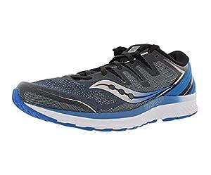 Saucony Men's Guide ISO 2 Running Shoe, Slate/Blue, 11.5