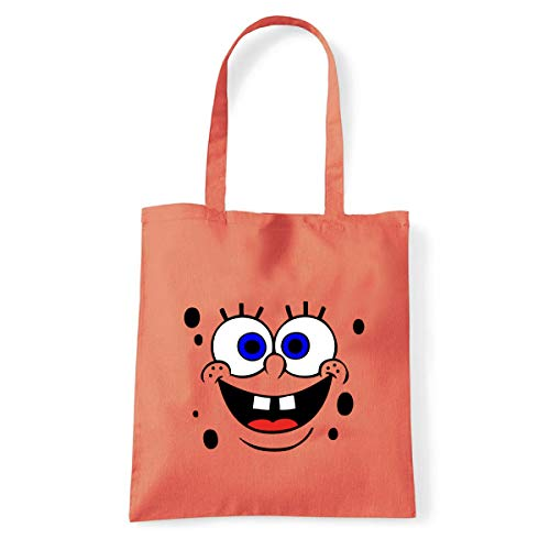 Art T-Shirt, Shoulder Spong Bob Frottee, Shopper, Meer, spongebob-spugna-bag-cor, Orange, spongebob-spugna-bag-cor Einheitsgröße