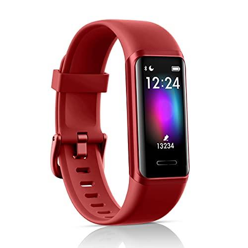 LATEC Fitness Tracker, Smartwatch Orologio con Alexa Integrato Impermeabile 5 ATM di Sportivo Calorie, Monitoraggio Frequenza Cardiaca del Sonno e della Salute per Sport Uomo Donna