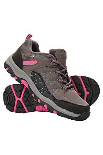 Mountain Warehouse Zapatillas Stampede para niños - Zapatillas de Correr con Suela de Gran Agarre, Zapatillas Impermeables, Zapatillas de Verano con Empeine Gris 34