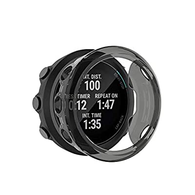 Shan-S Case for Garmin Swim 2, Soft Silicone Ultra-Slim TPU Sport Shockproof Anti-Collision Case All-Around Protector Rugged Full Protection Bumper Case Cover for Garmin Swim 2 Smart Watch