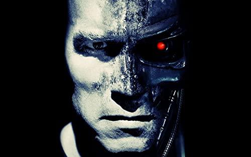 HUANIU DIY 5D Pintura Diamantada,The Terminator TV serie poster,Diamond Painting Taladro Completo Kits de Punto Cruz Pintura para Adultos niños Rhinestone Bordado Arte, navidad decoración