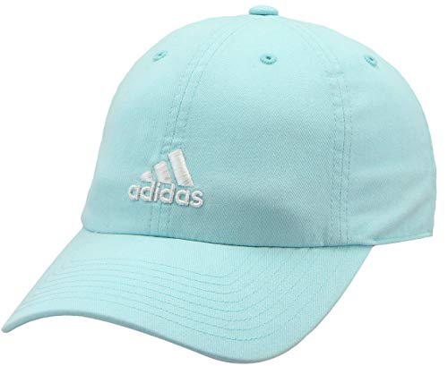 adidas Women's Saturday Relaxed Adjustable Cap, Energy Aqua/White, ONE SIZE